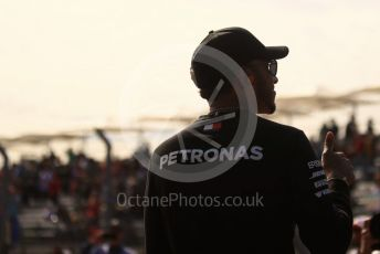 World © Octane Photographic Ltd. Formula 1 – United States GP – Drivers Parade. Mercedes AMG Petronas Motorsport AMG F1 W09 EQ Power+ - Lewis Hamilton. Circuit of the Americas (COTA), USA. Sunday 21st October 2018.