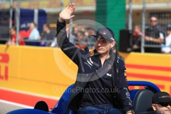 World © Octane Photographic Ltd. Formula 1 – United States GP - Drivers Parade. Aston Martin Red Bull Racing TAG Heuer RB14 – Max Verstappen. Circuit of the Americas (COTA), USA. Sunday 21st October 2018.