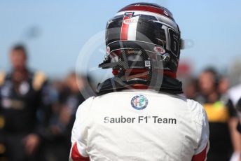 World © Octane Photographic Ltd. Formula 1 – United States GP - Grid. Alfa Romeo Sauber F1 Team C37 – Charles Leclerc. Circuit of the Americas (COTA), USA. Sunday 21st October 2018.