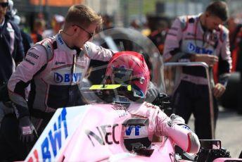 World © Octane Photographic Ltd. Formula 1 – United States GP - Grid. Racing Point Force India VJM11 - Esteban Ocon. Circuit of the Americas (COTA), USA. Sunday 21st October 2018.