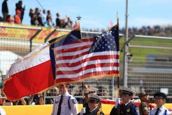 World © Octane Photographic Ltd. Formula 1 – United States GP - Grid. Texas flag. Circuit of the Americas (COTA), USA. Sunday 21st October 2018.