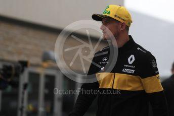 World © Octane Photographic Ltd. Formula 1 – United States GP - Paddock. Renault Sport F1 Team RS18 – Nico Hulkenberg. Circuit of the Americas (COTA), USA. Friday 19th October 2018.