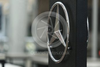 World © Octane Photographic Ltd. Formula 1 – United States GP – Paddock. Mercedes AMG star logo. Circuit of the Americas (COTA), USA. Friday 19th October 2018.