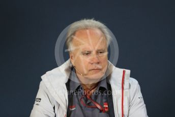 World © Octane Photographic Ltd. Formula 1 - United States GP - Friday FIA Team Press Conference. Gene Haas - Founder and Chairman of Haas F1 Team. Circuit of the Americas (COTA), USA. Friday 18th October 2018