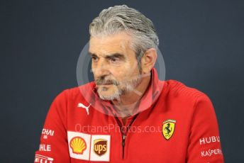 World © Octane Photographic Ltd. Formula 1 - United States GP – Friday FIA Team Press Conference. Maurizio Arrivabene – Managing Director and Team Principal of Scuderia Ferrari. Circuit of the Americas (COTA), USA. Friday 18th October 2018