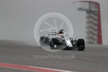 World © Octane Photographic Ltd. Formula 1 – United States GP - Practice 1. Alfa Romeo Sauber F1 Team C37 – Marcus Ericsson. Circuit of the Americas (COTA), USA. Friday 19th October 2018.
