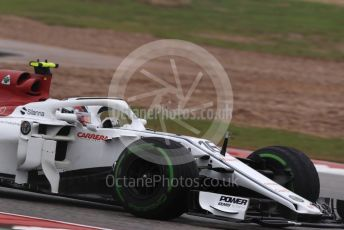 World © Octane Photographic Ltd. Formula 1 – United States GP - Practice 1. Alfa Romeo Sauber F1 Team C37 – Charles Leclerc. Circuit of the Americas (COTA), USA. Friday 19th October 2018.