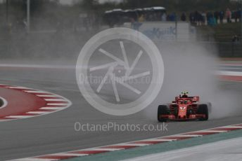 World © Octane Photographic Ltd. Formula 1 – United States GP - Practice 2. Scuderia Ferrari SF71-H – Kimi Raikkonen. Circuit of the Americas (COTA), USA. Friday 19th October 2018.