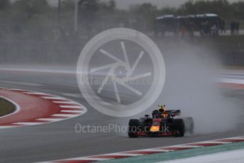 World © Octane Photographic Ltd. Formula 1 – United States GP - Practice 2. Aston Martin Red Bull Racing TAG Heuer RB14 – Max Verstappen. Circuit of the Americas (COTA), USA. Friday 19th October 2018.