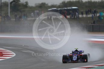 World © Octane Photographic Ltd. Formula 1 – United States GP - Practice 2. Scuderia Toro Rosso STR13 – Pierre Gasly. Circuit of the Americas (COTA), USA. Friday 19th October 2018.
