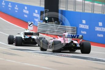 World © Octane Photographic Ltd. Formula 1 – United States GP - Practice 3. Racing Point Force India VJM11 - Esteban Ocon. Circuit of the Americas (COTA), USA. Saturday 20th October 2018.
