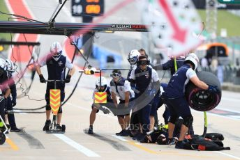 World © Octane Photographic Ltd. Formula 1 – United States GP - Practice 3. Williams Martini Racing pit crew. Circuit of the Americas (COTA), USA. Saturday 20th October 2018.