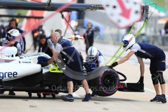 World © Octane Photographic Ltd. Formula 1 – United States GP - Practice 3. Williams Martini Racing FW41 – Sergey Sirotkin. Circuit of the Americas (COTA), USA. Saturday 20th October 2018.
