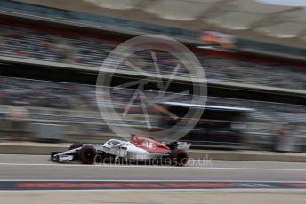World © Octane Photographic Ltd. Formula 1 – United States GP - Practice 3. Alfa Romeo Sauber F1 Team C37 – Marcus Ericsson. Circuit of the Americas (COTA), USA. Saturday 20th October 2018.