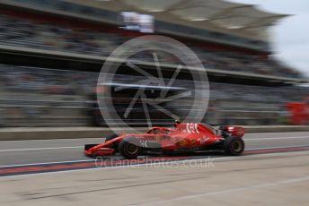 World © Octane Photographic Ltd. Formula 1 – United States GP - Practice 3. Scuderia Ferrari SF71-H – Kimi Raikkonen. Circuit of the Americas (COTA), USA. Saturday 20th October 2018.