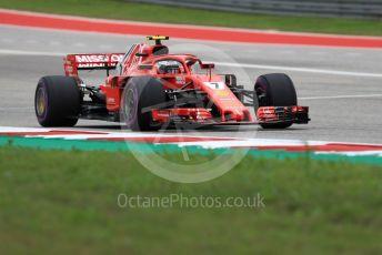 World © Octane Photographic Ltd. Formula 1 – United States GP - Qualifying. Scuderia Ferrari SF71-H – Kimi Raikkonen. Circuit of the Americas (COTA), USA. Saturday 20th October 2018.