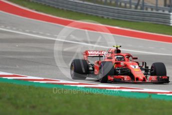 World © Octane Photographic Ltd. Formula 1 – United States GP - Qualifying. Scuderia Ferrari SF71-H – Kimi Raikkonen. Circuit of the Americas (COTA), USA. Saturday 20th October 2018.