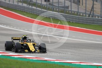 World © Octane Photographic Ltd. Formula 1 – United States GP - Qualifying. Renault Sport F1 Team RS18 – Carlos Sainz. Circuit of the Americas (COTA), USA. Saturday 20th October 2018.