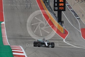 World © Octane Photographic Ltd. Formula 1 – United States GP – Qualifying. Mercedes AMG Petronas Motorsport AMG F1 W09 EQ Power+ - Lewis Hamilton. Circuit of the Americas (COTA), USA. Saturday 20th October 2018.