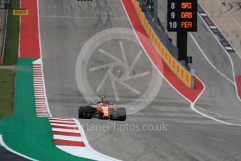 World © Octane Photographic Ltd. Formula 1 – United States GP - Qualifying. McLaren MCL33 – Stoffel Vandoorne. Circuit of the Americas (COTA), USA. Saturday 20th October 2018.