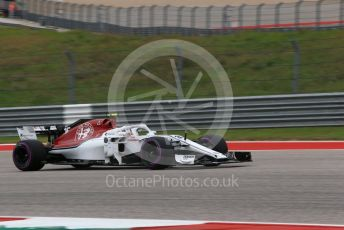 World © Octane Photographic Ltd. Formula 1 – United States GP - Qualifying. Alfa Romeo Sauber F1 Team C37 – Charles Leclerc. Circuit of the Americas (COTA), USA. Saturday 20th October 2018.