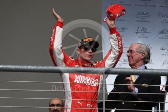 World © Octane Photographic Ltd. Formula 1 – United States GP - Podium. Scuderia Ferrari SF71-H – Kimi Raikkonen. Circuit of the Americas (COTA), USA. Sunday 21st October 2018.