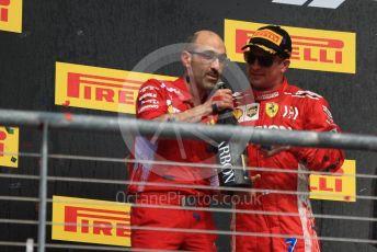 World © Octane Photographic Ltd. Formula 1 – United States GP - Podium. Scuderia Ferrari SF71-H – Kimi Raikkonen and his chief engineer Carlo Santi. Circuit of the Americas (COTA), USA. Sunday 21st October 2018.