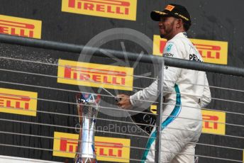 World © Octane Photographic Ltd. Formula 1 – United States GP – Race Podium. Mercedes AMG Petronas Motorsport AMG F1 W09 EQ Power+ - Lewis Hamilton. Circuit of the Americas (COTA), USA. Sunday 21st October 2018