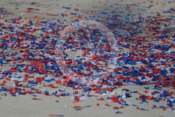 World © Octane Photographic Ltd. Formula 1 – United States GP – Race Podium. Ticker tape. Circuit of the Americas (COTA), USA. Sunday 21st October 2018