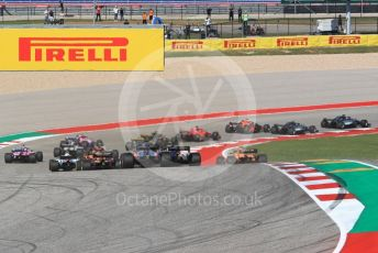 World © Octane Photographic Ltd. Formula 1 – United States GP - Race. Scuderia Toro Rosso STR13 – Brendon Hartley. Circuit of the Americas (COTA), USA. Sunday 21st October 2018.