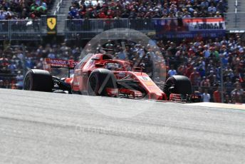 World © Octane Photographic Ltd. Formula 1 – United States GP - Race. Scuderia Ferrari SF71-H – Sebastian Vettel. Circuit of the Americas (COTA), USA. Sunday 21st October 2018.