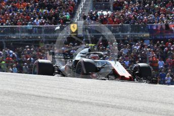World © Octane Photographic Ltd. Formula 1 – United States GP - Race. Haas F1 Team VF-18 – Kevin Magnussen. Circuit of the Americas (COTA), USA. Sunday 21st October 2018.