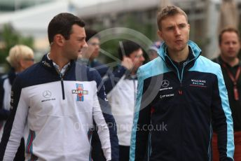 World © Octane Photographic Ltd. Formula 1 – United States GP - Paddock. Williams Martini Racing FW41 – Sergey Sirotkin. Circuit of the Americas (COTA), USA. Saturday 20th October 2018.