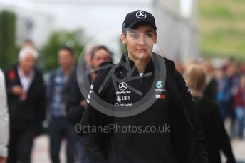 World © Octane Photographic Ltd. Formula 1 - United States GP - Paddock. George Russell - Mercedes AMG Petronas F1 Reserve Driver. Circuit of the Americas (COTA), USA. Saturday 20th October 2018.