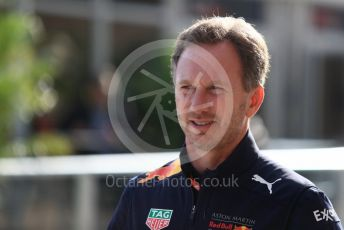 World © Octane Photographic Ltd. Formula 1 - United States GP - Paddock. Christian Horner - Team Principal of Red Bull Racing. Circuit of the Americas (COTA), USA. Sunday 21st October 2018.