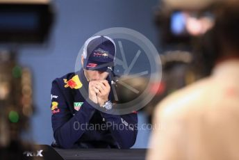 World © Octane Photographic Ltd. Formula 1 – United States GP - FIA Drivers' Press Conference. Aston Martin Red Bull Racing TAG Heuer – Daniel Ricciardo. Circuit of the Americas (COTA), USA. Thursday 18th October 2018.