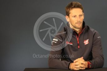 World © Octane Photographic Ltd. Formula 1 – United States GP - FIA Drivers' Press Conference. Haas F1 Team – Romain Grosjean. Circuit of the Americas (COTA), USA. Thursday 18th October 2018.