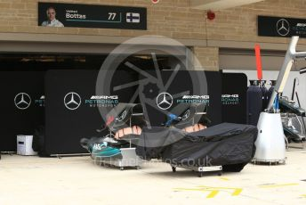 World © Octane Photographic Ltd. Formula 1 – United States GP – Pit Lane Setup. Mercedes AMG Petronas Motorsport. Circuit of the Americas (COTA), USA. Wednesday 17th October 2018.