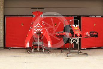 World © Octane Photographic Ltd. Formula 1 – United States GP – Pit Lane Setup. Scuderia Ferrari. Circuit of the Americas (COTA), USA. Wednesday 17th October 2018.