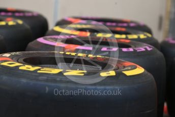 World © Octane Photographic Ltd. Formula 1 – United States GP – Pit Lane Setup. Tyres. Circuit of the Americas (COTA), USA. Wednesday 17th October 2018.