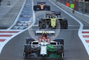 World © Octane Photographic Ltd. Formula 1 – Abu Dhabi GP - Practice 1. Alfa Romeo Racing C38 – Antonio Giovinazzi, Renault Sport F1 Team RS19 – Daniel Ricciardo and McLaren MCL34 – Lando Norris. Yas Marina Circuit, Abu Dhabi, UAE. Friday 29th November 2019.