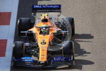 World © Octane Photographic Ltd. Formula 1 – Abu Dhabi GP - Practice 1. McLaren MCL34 – Lando Norris. Yas Marina Circuit, Abu Dhabi, UAE. Friday 29th November 2019.