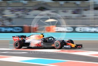 World © Octane Photographic Ltd. Formula 1 – Abu Dhabi GP - Practice 1. Aston Martin Red Bull Racing RB15 – Max Verstappen. Yas Marina Circuit, Abu Dhabi, UAE. Friday 29th November 2019.