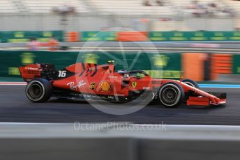 World © Octane Photographic Ltd. Formula 1 – Abu Dhabi GP - Practice 2. Scuderia Ferrari SF90 – Charles Leclerc. Yas Marina Circuit, Abu Dhabi, UAE. Friday 29th November 2019.