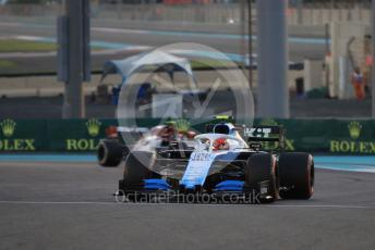 World © Octane Photographic Ltd. Formula 1 – Abu Dhabi GP - Practice 2. ROKiT Williams Racing FW42 – Robert Kubica and Alfa Romeo Racing C38 – Antonio Giovinazzi. Yas Marina Circuit, Abu Dhabi, UAE. Friday 29th November 2019.