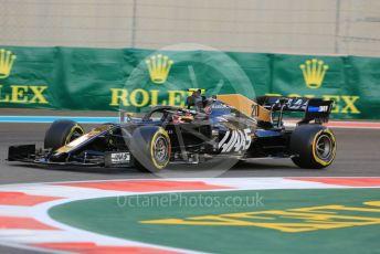 World © Octane Photographic Ltd. Formula 1 – Abu Dhabi GP - Practice 2. Haas F1 Team VF19 – Kevin Magnussen. Yas Marina Circuit, Abu Dhabi, UAE. Friday 29th November 2019.