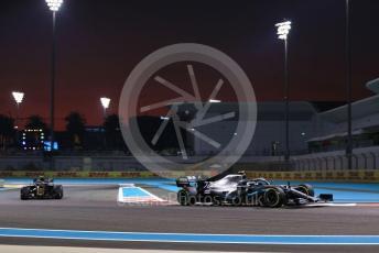 World © Octane Photographic Ltd. Formula 1 – Abu Dhabi GP - Practice 2. Mercedes AMG Petronas Motorsport AMG F1 W10 EQ Power+ - Valtteri Bottas and Haas F1 Team VF19 – Kevin Magnussen. Yas Marina Circuit, Abu Dhabi, UAE. Friday 29th November 2019.