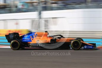 World © Octane Photographic Ltd. Formula 1 – Abu Dhabi GP - Practice 3. McLaren MCL34 – Carlos Sainz. Yas Marina Circuit, Abu Dhabi, UAE. Saturday 30th November 2019.