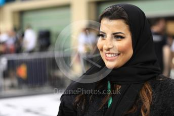 World © Octane Photographic Ltd. Formula 1 – Abu Dhabi GP - Qualifying. Pirelli Representative, FIA Women in Motorsport Commission member and Saudi Arabian racing driver Aseel Al Hamad. Yas Marina Circuit, Abu Dhabi, UAE. Saturday 30th November 2019.