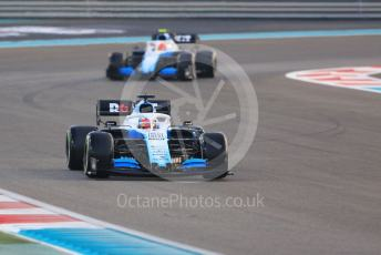 World © Octane Photographic Ltd. Formula 1 – Abu Dhabi GP - Race. ROKiT Williams Racing FW 42 – George Russell and Robert Kubica. Yas Marina Circuit, Abu Dhabi, UAE. Sunday 1st December 2019.